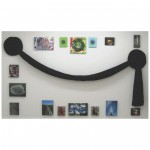 Cheselyn Amato_Swag with Love_AXIS Gallery_Black Fabric Swag with Giclee Prints on Canvas_03