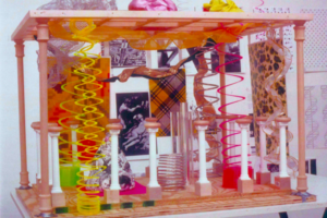 Model for Interdisciplinary Installation, G-d's Desire-Swags and Swoons (View 1), 1999