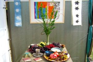 Inside the Sukkah (3), Sukkot 2009