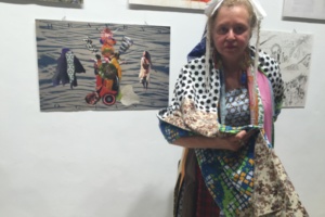 Cheselyn at the Women of the Book Opening at the First Station, Jerusalem Biennale, 2015