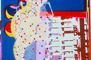 Textile Collage (Doilies, Dots, Holes and Deathcamps), Archival digital print, 2004