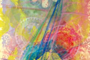 Holy of Holies (YudHeyVavHey2), 2000, liquid ink on paper, 15inHx11inW