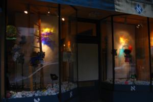 Liberation Garden, Healing & Redemption After Slavery Window Installation for Pesach/Passover (#2), 2010, Afikomen Judaica, Berkeley, CA