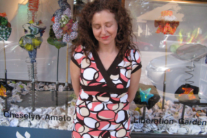 Cheselyn Amato at Afikomen, Liberation Garden, Pesach 2010
