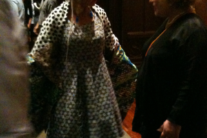 Cheselyn at the Opening Event of Reinventing Ritual at The Jewish Museum NYC, 2009