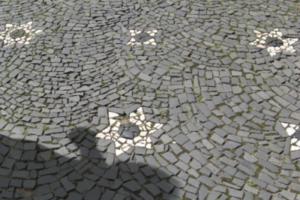 Embedded Memory-Magen David in the Cobblestone in Strasbourg, France #2, 2008