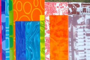 Textile Collage (Placemats, Napkins and Deathcamps), 2004, Digitally printed scan-bed collage