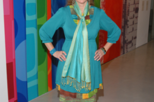 Cheselyn at the Opening of The New Authentics, Spertus Museum, Chicago, 2008