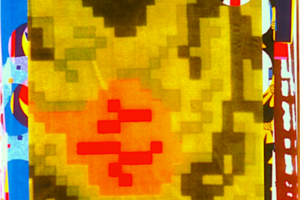 Textile Collage (Chicago Velvet 1942-Deathcamp in Plan), Archival digital print, 2004