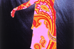 Psychedelic Rebbetzin (Pink Paisley), 2000, Collage with photocopies, 9.25inHx6.25inW