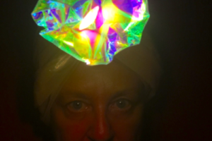 Brain Lamp, Costume Headdress for Performance, Chaya Chesed Love Life Chronicle Mini-Retrospective 1987-2017, AXIS Gallery, Sacramento